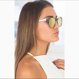 Quay Asha gold mirrored sunglasses